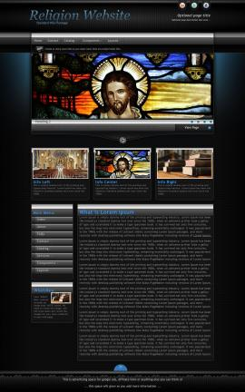 Element Religion Website Template