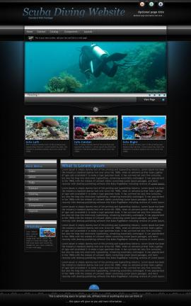 Element Scuba-diving Website Template