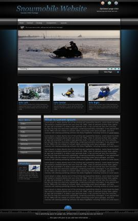 Element Snowmobile Website Template