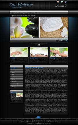 Element Spa Website Template
