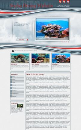 Viewport Scuba-diving Website Template