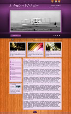 Immersion Aviation Dreamweaver Template