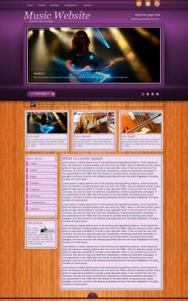 Immersion Music Website Template
