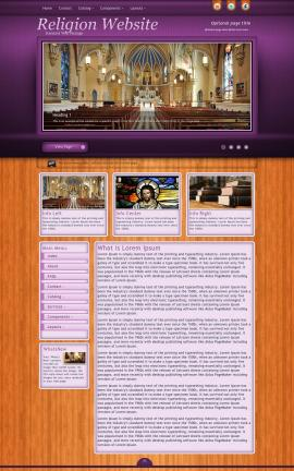 Immersion Religion Web Template