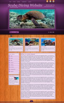 Immersion Scuba-diving Website Template