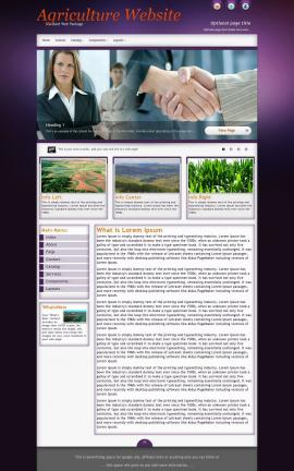 Acclaim Agriculture Website Template