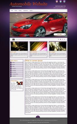Acclaim Automobile Website Template