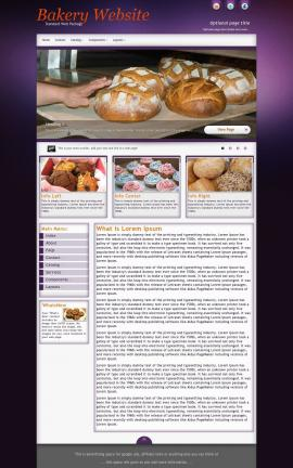 Acclaim Bakery Website Template