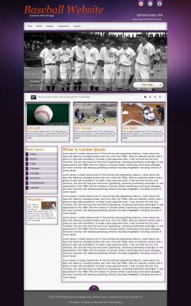 Acclaim Baseball Website Template