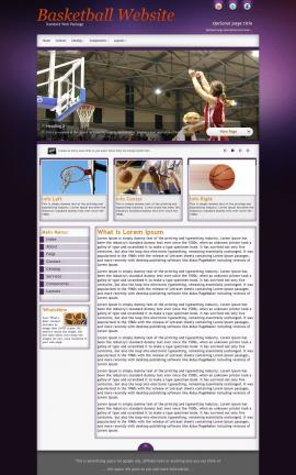 Acclaim Basketball Website Template