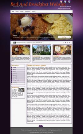 Acclaim Bed-and-breakfast Website Template