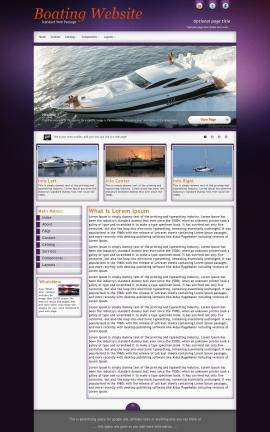 Acclaim Boating Website Template