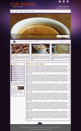 Acclaim Cafe Dreamweaver Template
