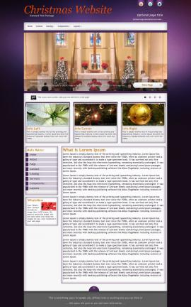 Acclaim Christmas Website Template