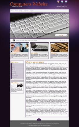 Acclaim Computers Website Template