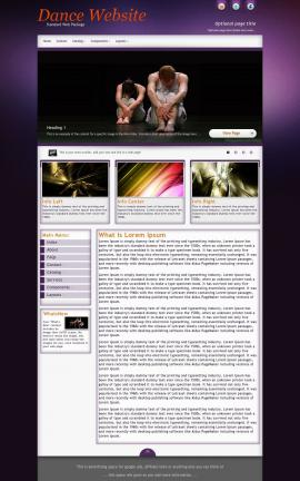 Acclaim Dance Website Template