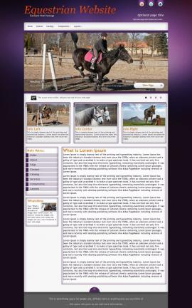 Acclaim Equestrian Website Template