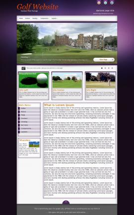 Acclaim Golf Website Template