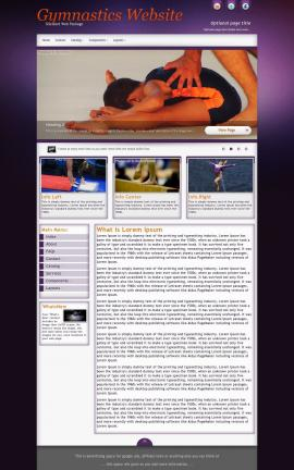 Acclaim Gymnastics Website Template