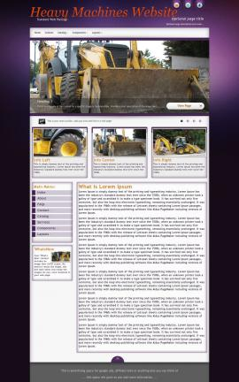 Acclaim Heavy-machines Website Template