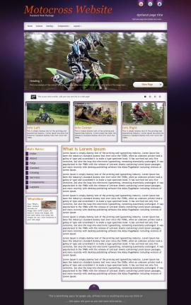Acclaim Motocross Website Template