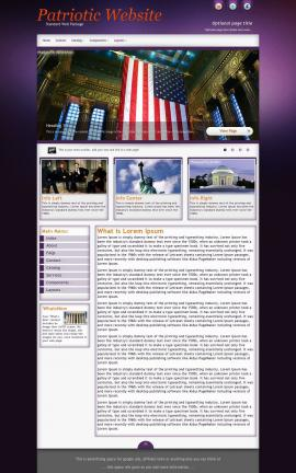 Acclaim Patriotic Website Template
