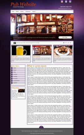 Acclaim Pub Website Template
