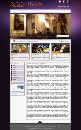 Acclaim Religion Web Template