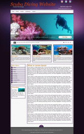Acclaim Scuba-diving Website Template