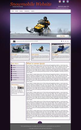 Acclaim Snowmobile Website Template