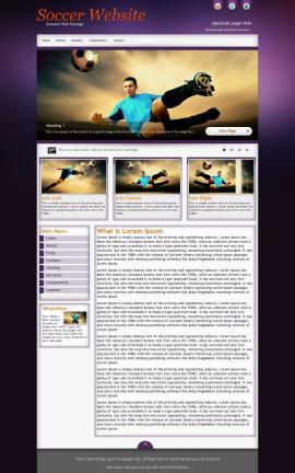 Acclaim Soccer Website Template
