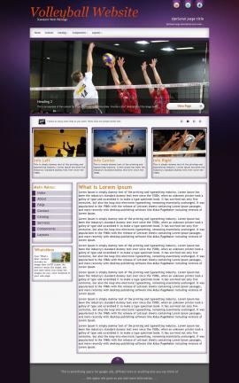 Acclaim Volleyball Website Template