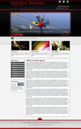 Instinct Aviation Dreamweaver Template