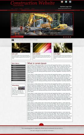 Instinct Construction Website Template