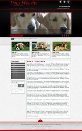 Instinct Dogs Website Template