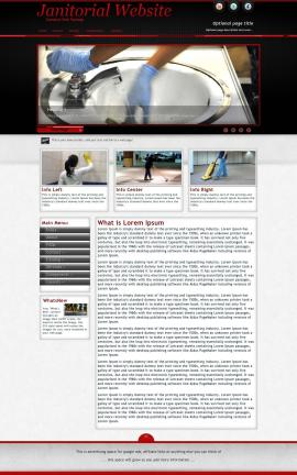 Instinct Janitorial Website Template