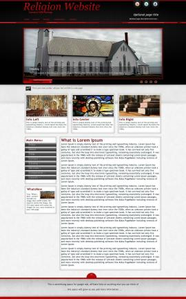 Instinct Religion Web Template
