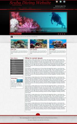 Instinct Scuba-diving Website Template