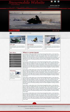 Instinct Snowmobile Website Template