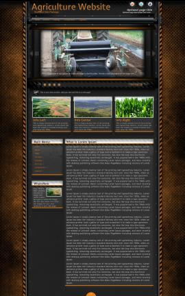 Gridlock Agriculture Website Template