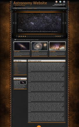 Gridlock Astronomy Website Template