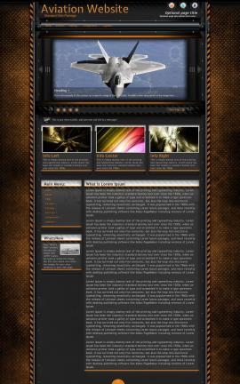 Gridlock Aviation Dreamweaver Template