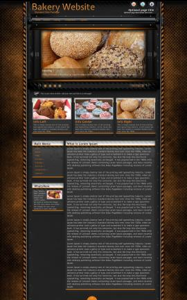 Gridlock Bakery Website Template