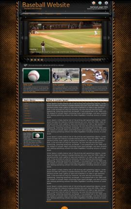Gridlock Baseball Website Template