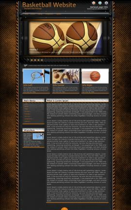 Gridlock Basketball Website Template