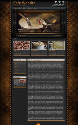 Gridlock Cafe Website Template