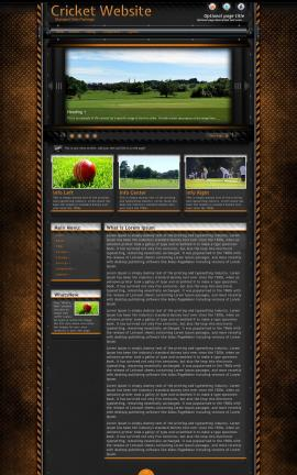 Gridlock Cricket Website Template