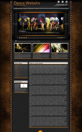Gridlock Dance Website Template