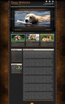 Gridlock Dogs Website Template