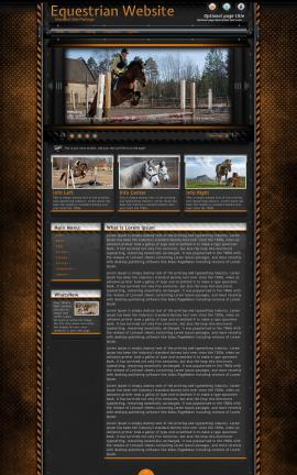 Gridlock Equestrian Website Template